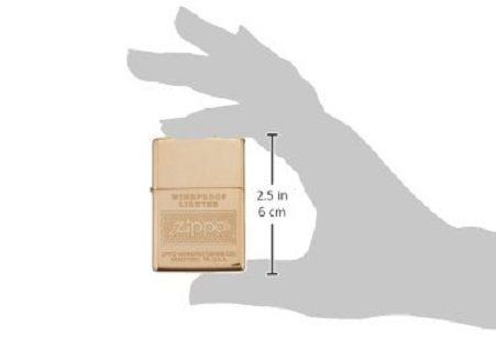 Bật lửa Zippo Logo Polish Brass Lighter 28145 thời thượng 5
