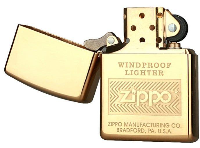 Bật lửa Zippo Windproof High Polish Brass 28145  màu vàng đẳng cấp