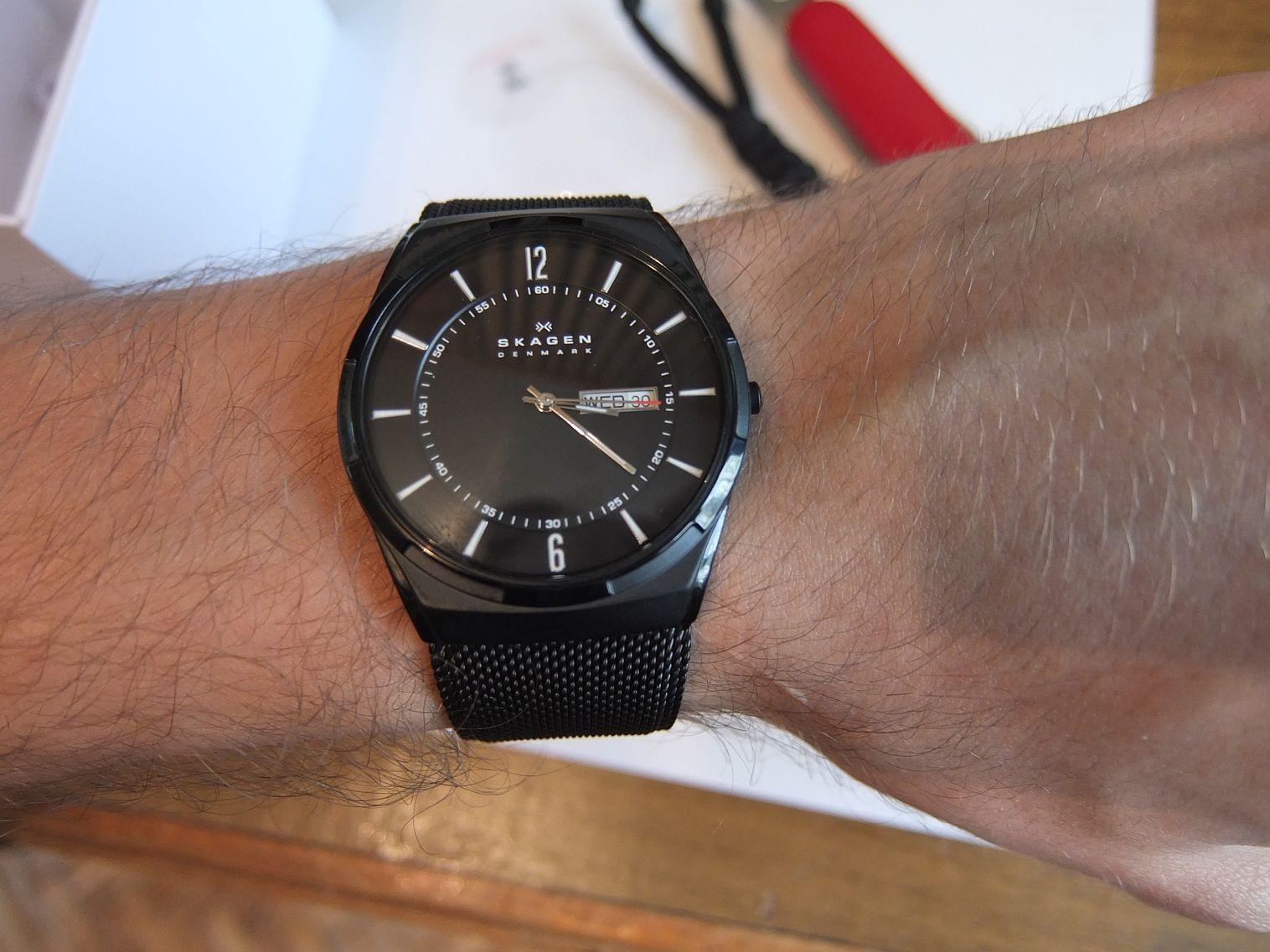 Hình ảnh thực tế của chiếc đồng hồ nam Skagen đẹp khó cưỡng