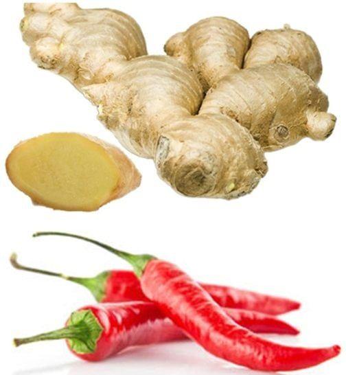 Gừng và ớt là những thành phần chính rất lành tính, đảm bảo an toàn cho sức khỏe