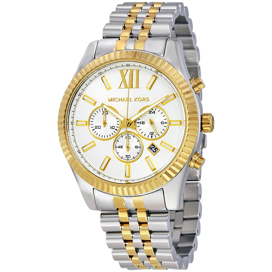 Đồng hồ Michael Kors MK8344 với 3 subdials đặc trưng, thể hiện giờ, phút, giây