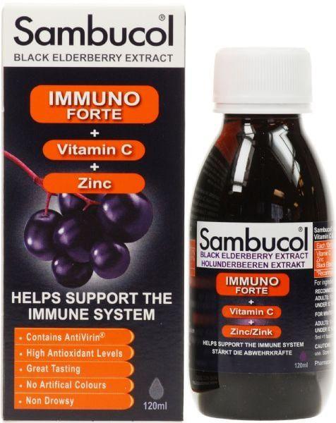 Sambucol immuno forte tăng đề kháng cho trẻ trên 3 tuổi 120ml 1