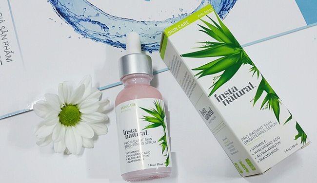 InstaNatural Pro-radiant Skin Brightening Serum chứa vitamin C, hyaluronic acid và các thành phần nuôi dưỡng làn da