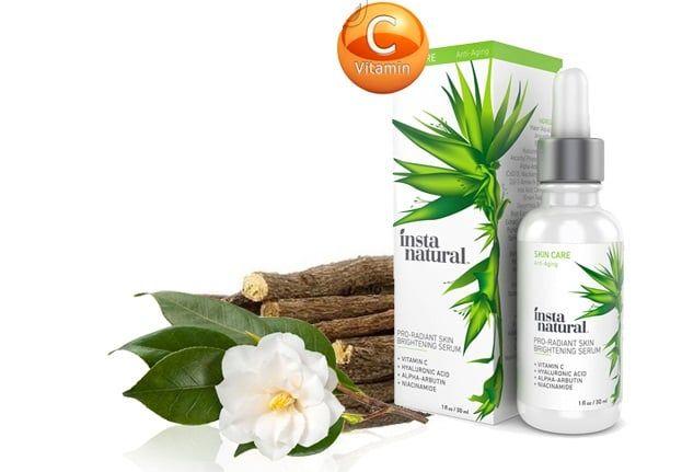 Serum dưỡng trắng da InstaNatural Pro-radiant Skin Brightening Serum 30ml còn giúp tăng collagen, tăng độ đàn hồi của làn da cho da căng mịn