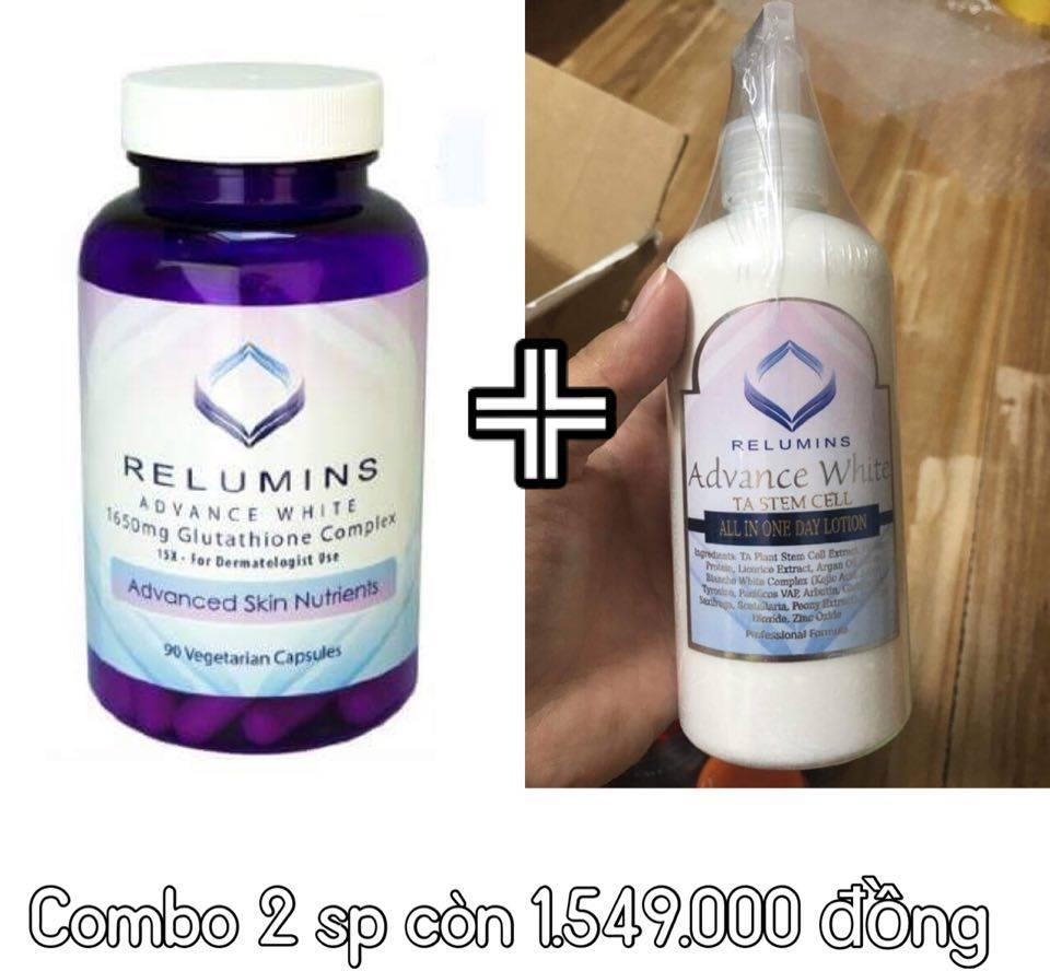 Dưỡng thể trắng da Relumins Advance White All in One Day 1
