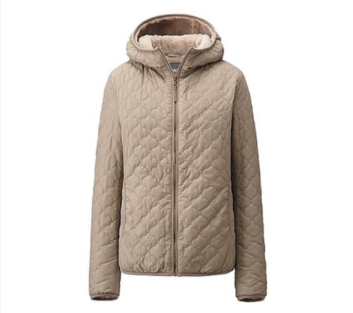 Áo nữ trần lót lông cừu Uniqlo màu begi ấm áp