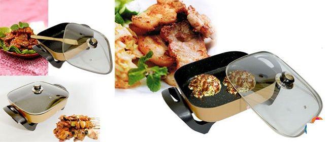 Chảo điện đa năng tích hợp nhiều chức năng nấu nướng