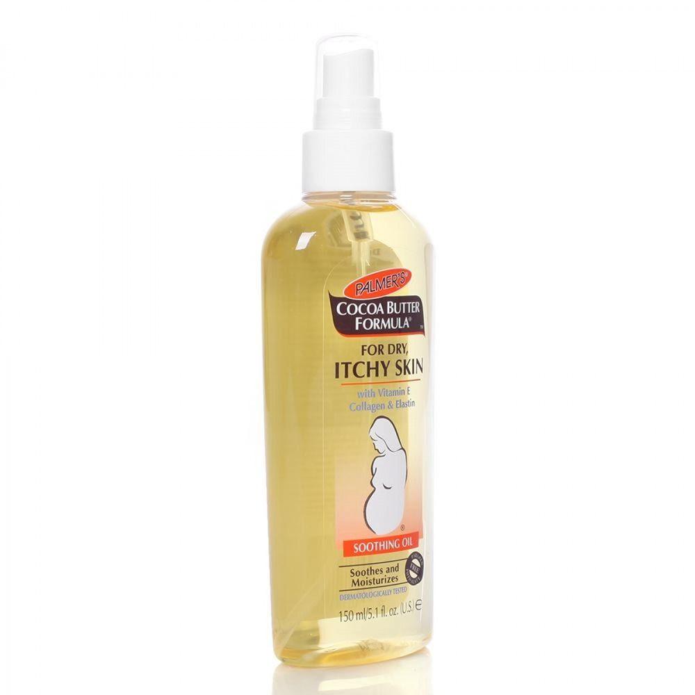 Dầu dưỡng ẩm cho da khô và ngứa Cocoa Butter Formular Itchy Skin Palmer's chứa các thành phần thiên nhiên lành tính giúp tăng cường độ ẩm