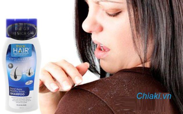 Dầu gội trị gàu Thick Hair với công thức kháng viêm, kiểm soát bã nhờn giúp tóc luôn sạch thoáng