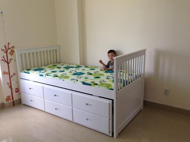giường hộp 2 tầng có ngăn kéo GT92