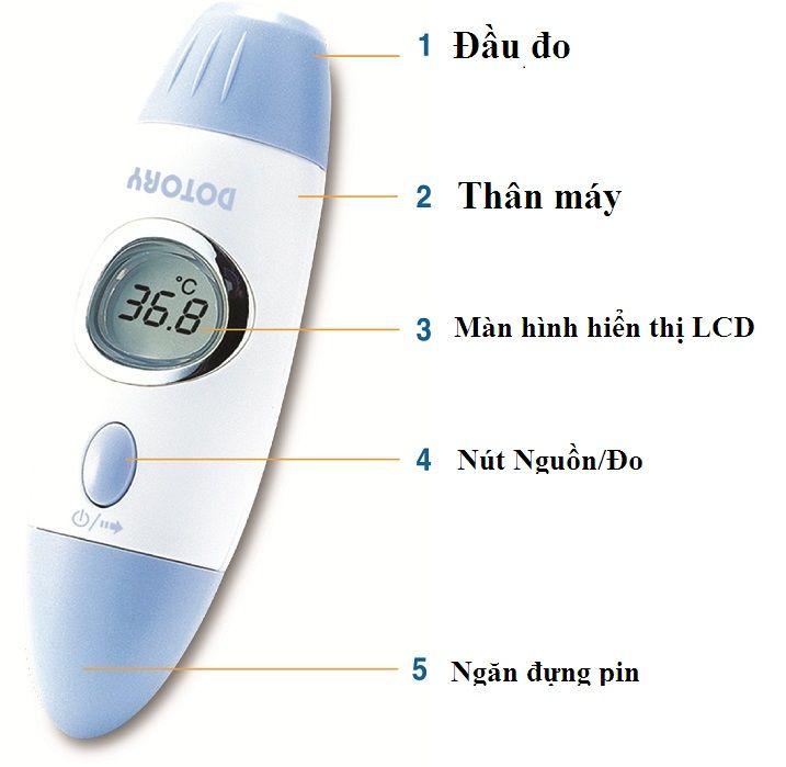 Cách sử dụng nhiệt kế điện tử hồng ngoại đo trán Hubdic Dotory HDFS100