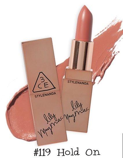 Son thỏi 3CE Lily MayMac Matte Lip Color tonemàu hồng nâu