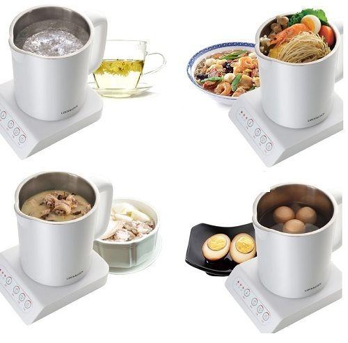 Ấm dùng để luộc trứng, nấu mỳ, nấu cháo, hầm đồ ăn rất đơn giản, tiết kiệm thời gian