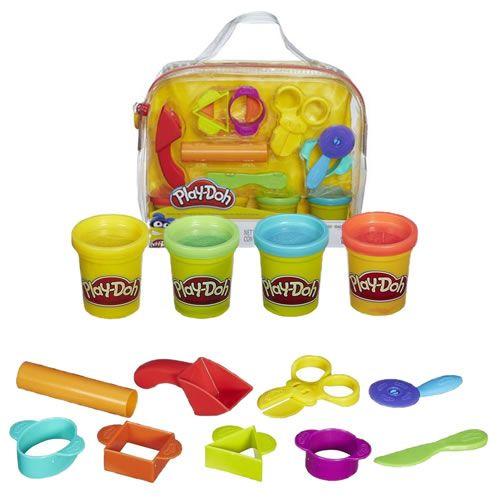 Bộ đồ chơi với 4 hộp đất nặn và các khuôn hình khác nhau được làm từ chất liệu an toàn