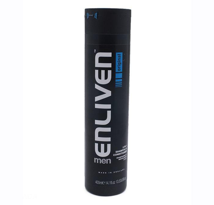 Dầu gội nam Enliven Mens 2in1 Shampoo & Conditioner 400ml chiết xuất từ các siêu vitamin bổ sung dưỡng chất thiết yếu cho mái tóc