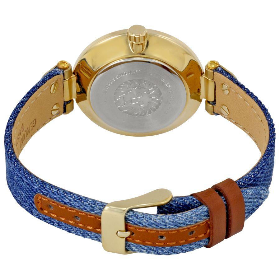Đồng hồ Anne Klein 10/9168BMDD sử dụng dây denim độc đáo và ấn tượng