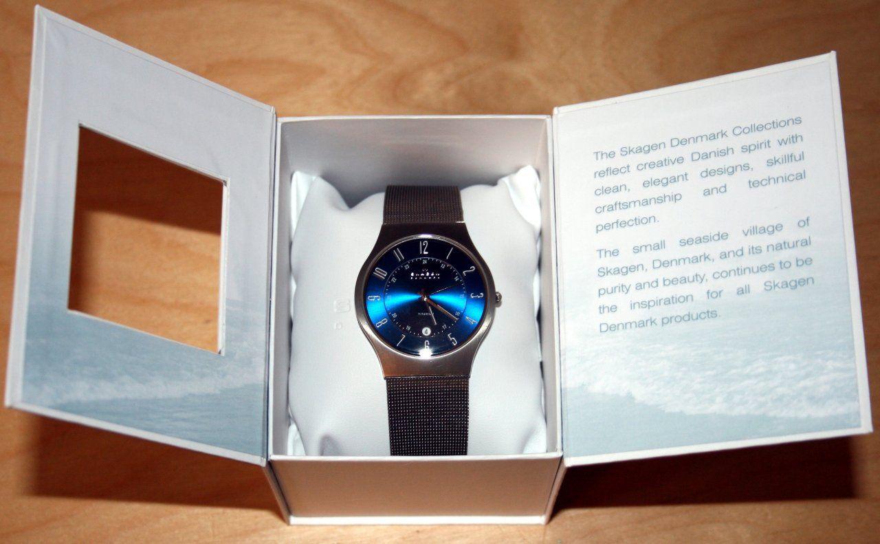 Cận cảnh chiếc đồng hồ Skagen nam