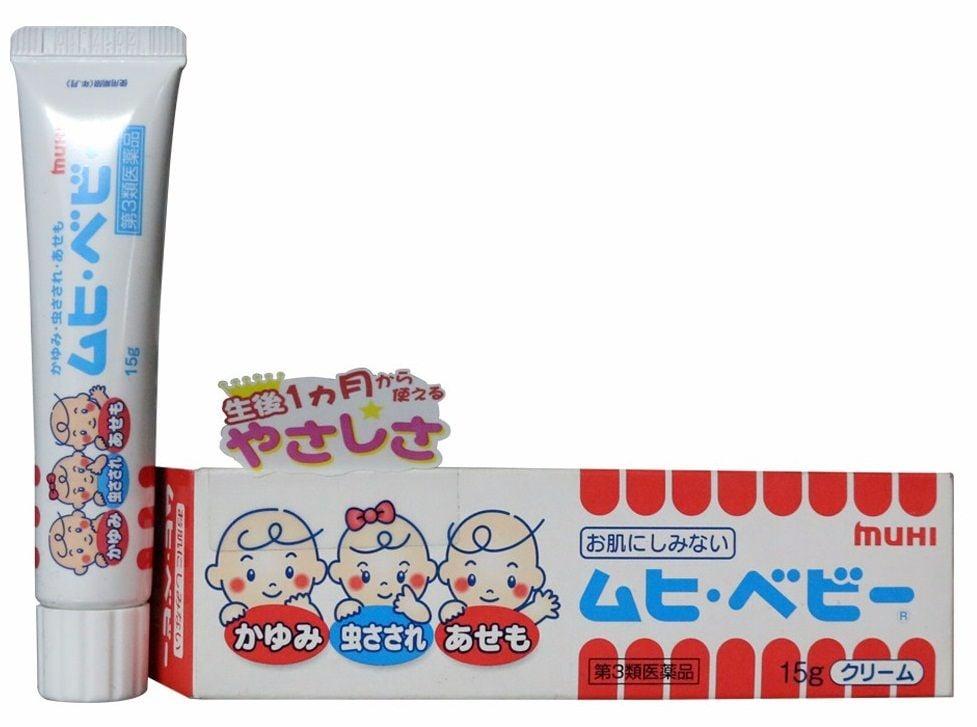 Kem trị muỗi đốt cho bé sơ sinh Muhi Baby 3 in 1 chính hãng từ Nhật Bản