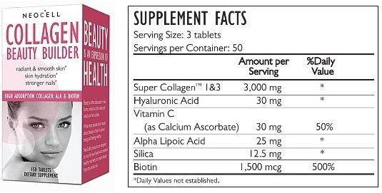 Viên Uống Collagen Beauty Tốt Cho Da Và Tóc Của NeoCell Mỹ