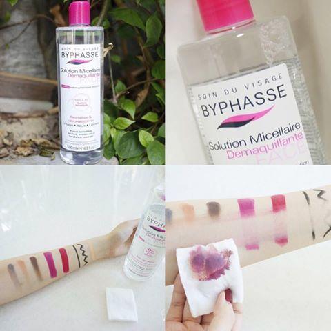 Tẩy trang Byphasse giúp loại bỏ các chất bẩn và bã nhờn sâu trong lỗ chân lông cùng với lớp trang điểm trên da
