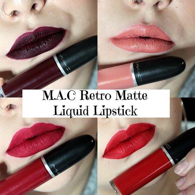 Son Mac Retro Matte Liquid Lip Color lên môi chuẩn màu đến 95%, sóng sánh mềm mướt trên môi