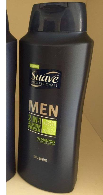 Dầu gội nam Suave Professionals Men 3 in 1 chai 828ml 4