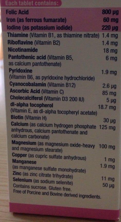 Thuốc bổ cho bà bầu Elevit chứa 11 vitamin quan trọng và 7 khoáng chất thiết yếu