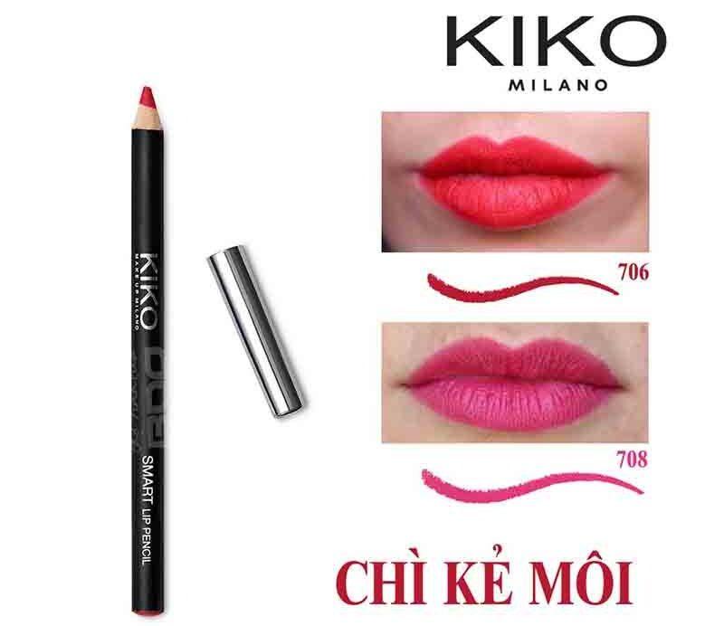Chì kẻ môi Kiko màu sắc mạnh mẽ đảm bảo độ bám màu từ đường kẻ đầu tiên, giữ màu son lâu trôi