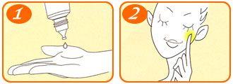 Sau khi rửa mặt sạch, lấy 1 lượng Essence Melano CC vừa đủ thoa và vỗ nhẹ lên da