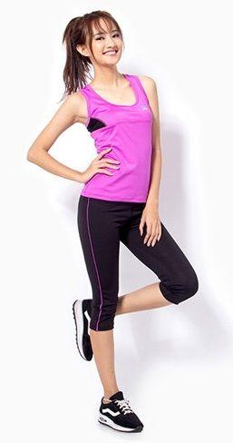 Bộ đồ tập gym, aerobic, fitness, zumba, yoga nữ dáng lửng 1