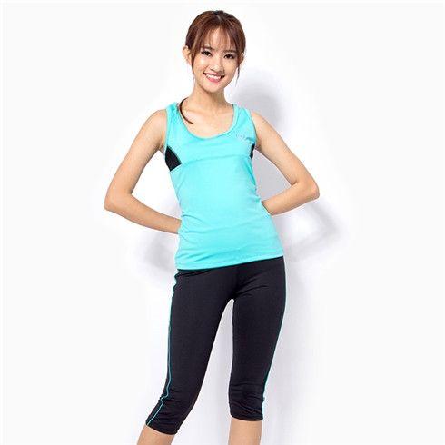 Bộ đồ tập gym, zumba, yoga, aerobic, fitness nữ màu xanh trẻ trung