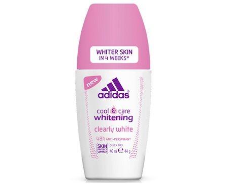 Adidas Cool & Care Whitening Clearly White nắp màu hồng ngăn mùi, dưỡng trắng da hiệu quả