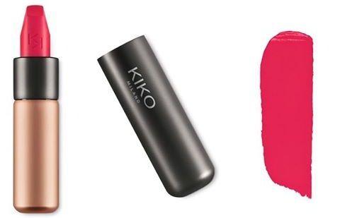 Son Kiko Velvet Passion Matte Strawberry Red 310 màu hồng pha đỏ dâu tây xinh xắn