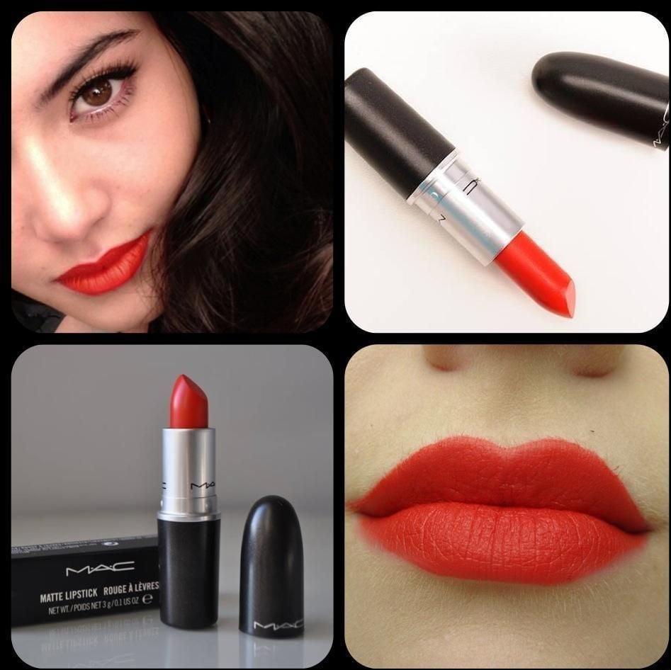 Son màu đỏ cam Mac Dangerous làm bật tone da, giúp da sáng hơn, nổi bật màu son và làn da của bạn
