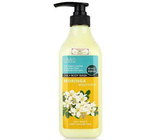 Sữa tắm trắng da Dabo Moringa Brightening Daily Body Wash với thành phần chứa chiết xuất cây chùm ngây giàu dưỡng chất