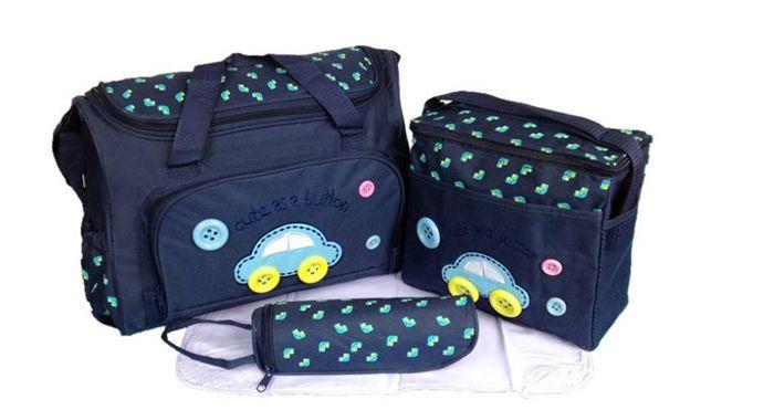 Túi đưng đồ 3 chi tiết cho mẹ và bé màu xanh tím than