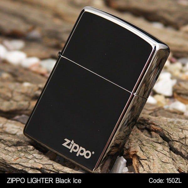 Bật lửa Zippo 150ZL classic Black Ice phủ bóng