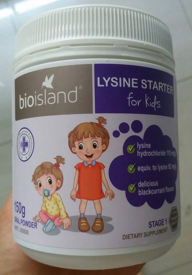 Bio Island Lysine Starter For Kids của hãng Bio Island Úc là sản phẩm hỗ trợ tăng chiều cao cho trẻ toàn diện