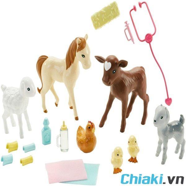 Bộ đồ chơi bác sĩ thú y trang trại Barbie Farm Vet DHB71 chính hãng