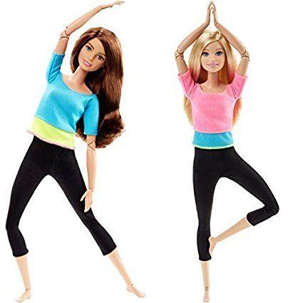 Búp bê Barbie có khớp Made to Move thực hiện được các động tác một cách linh hoạt