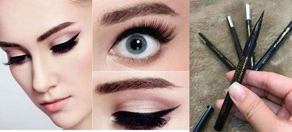 Bút kẻ mắt dạ Eveline Art Professional thiết kế đầu bút mảnh, mềm dễ tạo dáng thanh mảnh