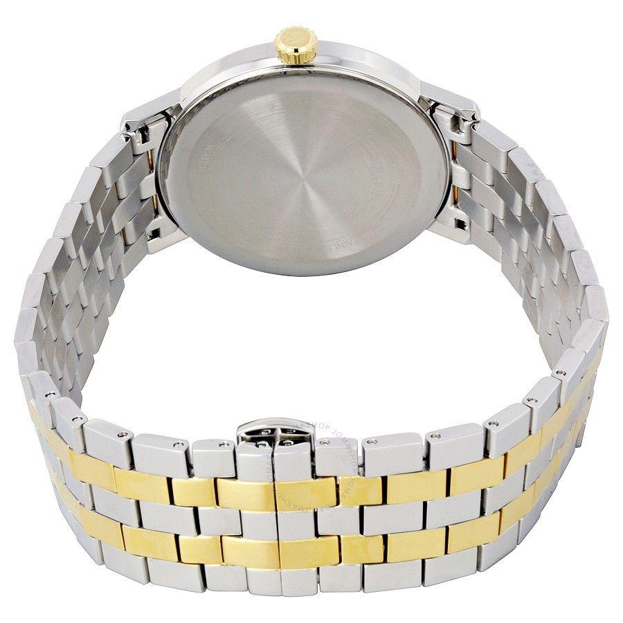 Dây đồng hồ với 2 màu bạc - vàng sang trọng
