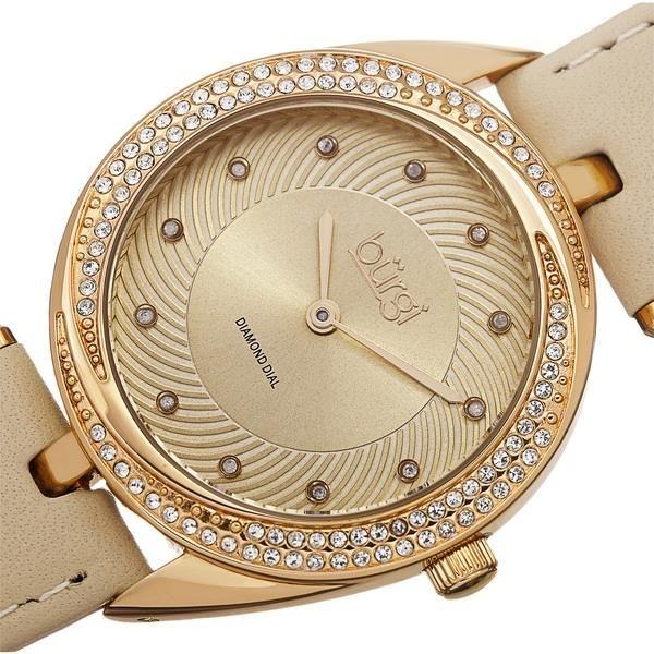 Case đồng hồ được mạ vàng, đính đá sang trọng