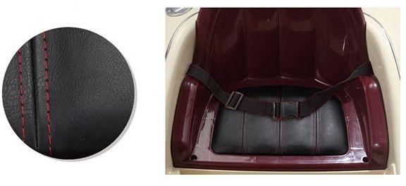 Bố trí ghế ngồi bọc da êm ái dễ chịu, chỗ để chân thoải mái