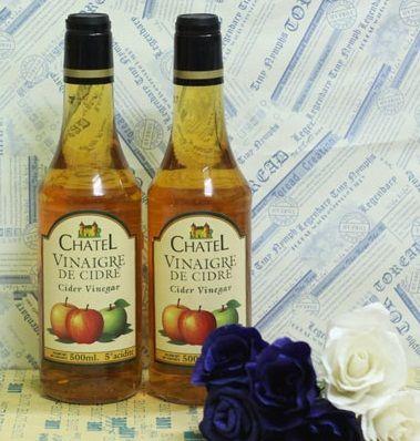 Giấm táo Chatel Vinaigre De Cidre 500ml chính hãng từ Pháp