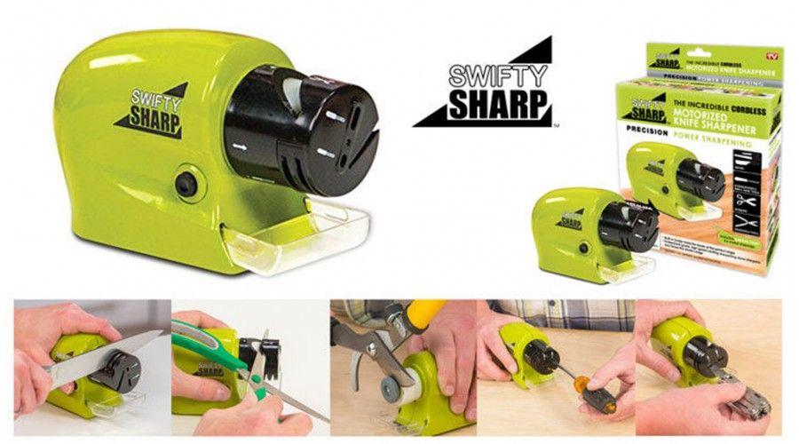 Swifty Sharp giúp phục hồi các bề mặt lưỡi dao, kéo hay bất kỳ dụng cụ nào trong vài giây