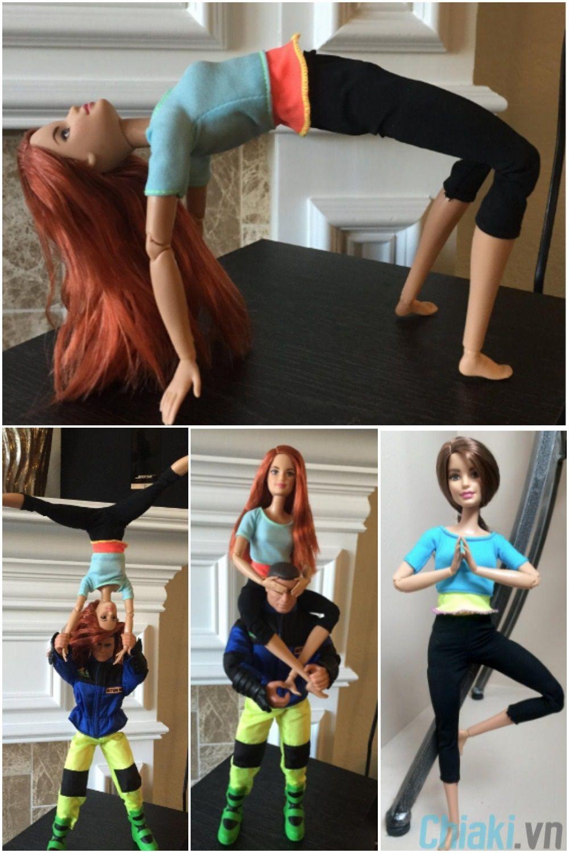 Với 22 khớp giúp búp bê Barbie Made to Move có thể làm những động tác đáng kinh ngạc