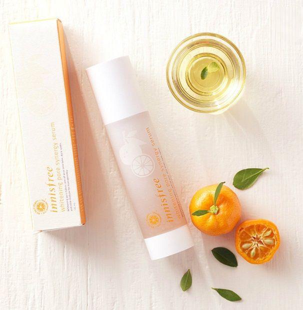 Serum trắng da Innisfree Whitening Pore Synergy Hàn Quốc chứa vitamin C chiết xuất từ vỏ quýt