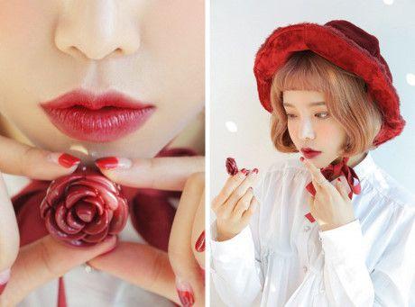 Son dưỡng 3CE hoa hồng thiết kế bông hoa xinh xắn 6