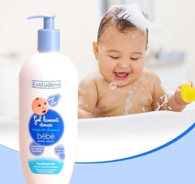 Evoluderm Gel Lavant doux Bébé là sữa tắm gội dành cho bé, an toàn đối với sức khỏe và làn da nhạy cảm của bé